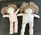 2 Cabbage Patch Kids Style Dolls Soft Sculpture Handmade 1984 Signed Marlo #256