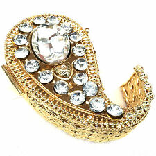 Gold Ring Jewellery Box Metal Gift Trinket Box Gems Storage Container 9x6x3cm