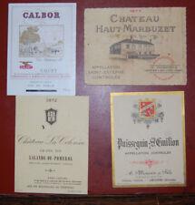 Anciennes étiquettes de vin: Calbor, Haut-Marbuzet 1971, Lalande