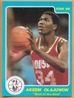 1986 Star Hakeem Olajuwon Rookie Best of The New Houston Rockets
