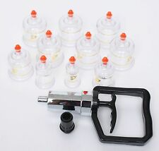 10pcs Chinese Cupping Vacuum Massage Set Medical Therapy Diet Health Acupuncture