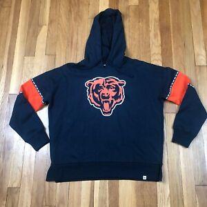 Chicago Bears 47 Brand Women's Small Hoodie. New NWT Blue Sweatshirt. NFL