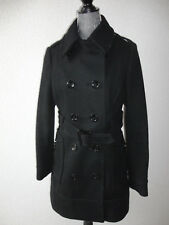 H&M Länger Wollmantel Jacke Mantel Gr.40 Schwarz zu Jeans Rock Kleid wie Neu