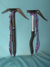 Grivel Mont Blanc ice climbing axes Set of 2 left and right axe w/ BD leashes ~~