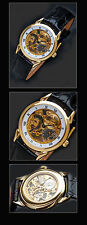 Swiss Watch with PESEUX Skeletonized Movement Artist Valuable