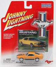 NOS Johnny Lightning 1970 Ford Mustang MACH 1 - Yellow #18 - Cragar Release 3