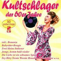 KULTSCHLAGER DER 60ER JAHRE  2 CD NEU