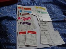 Lot de vieux monopole cartes, y compris les stations électriques et eau + 2 titre de propriété