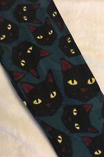 Kids L/XL LuLaRoe Halloween Leggings Black Cat Faces Yellow Eyes 3033