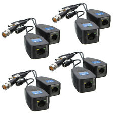 4 Pairs CCTV Coax BNC Video Power Balun Transceiver to CAT5e 6 RJ45 Connector