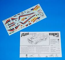 "MPC 1980 Plymouth Volare Road Runner ""FuzzDuster"" Decals, Instructions 1/25"
