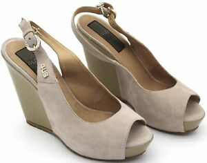 4US CESARE PACIOTTI WOMAN PUMP SANDALS SHOES WITH WEDGE CASUAL CODE FQD6 DIFETTO
