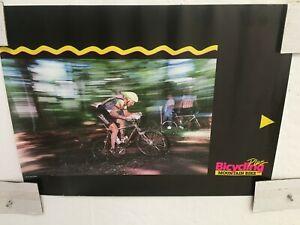 Vintage Original BICYCLING / MOUNTAIN BIKE PLUS Bicycle Poster