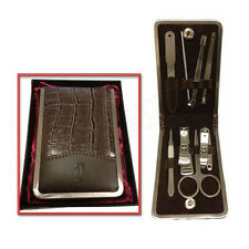 8pc Premium Quality Gents Manicure Set - Stainless Steel Mens Gift Grooming Kit