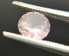 Natural earth mined light pink Tourmaline 1.38ct round faceted
