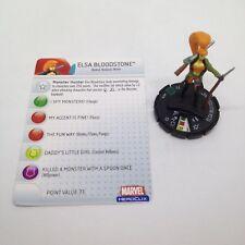 Heroclix Giant Size X-Men set Elsa Bloodstone #028 Uncommon figure w/card!