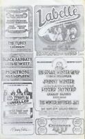 Led Zeppelin Concert Menu Handbill 1975 Randy Tuten