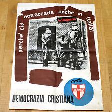 DEMOCRAZIA ITALIANA poster manifesto affiche Politica Pena di Morte Gallows Pole