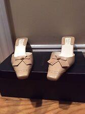 Brand New Gucci Scarpa Suola Cuoio Tan Size 6 Mule