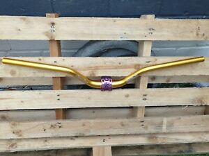 da bomb tactic dowmhill handlebars gold with krsec purple stem