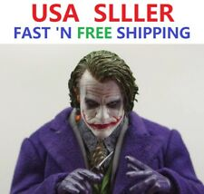 CUSTOM 1/6 Scale Joker Heath Ledger Head Sculpt for 12'' Narrow Shoulder Body