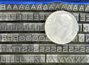Alphabets Metal Letterpress Printing Type 8/12pt Copperplate Gothic Lt MN78  3#