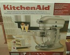 *New* KitchenAid 5Qt Design Tilt-Head Stand Mixer KSM155GBSR -Sugar Pearl Silver