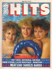 Bananarama on Smash Hits Magazine Cover 1982   David Sylvian  Meat Loaf  Squeeze