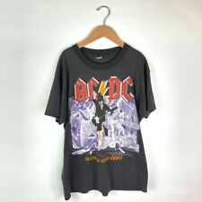 AC/DC Tour 88 Screen Stars Mens Vintage T-Shirt Black Blow Up Your Video Tee L