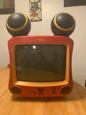 """Vintage Disney 13"""" DT1350-C Color Mickey Mouse Color CRT Television DVD *Tested"""