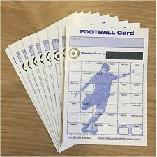 Pack of 100 Fund Raising Charity Event Football Scratch Cards 40 Team