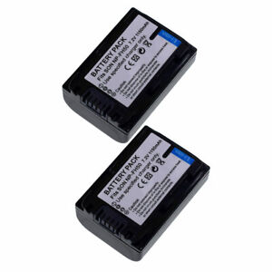 TWO(2) Battery NP-FH40 1150mAH for Sony NP-FH50 NP-FH40 NP-FH90 NP-FH100