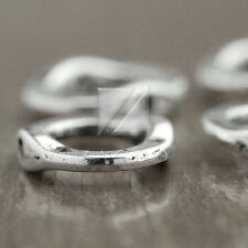 60pcs Tibet Silver Frames Bead Connector Spacer Jewelry Fashion Ring 15x13x3mm
