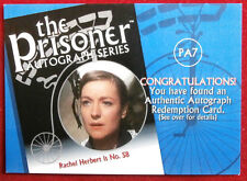 THE PRISONER Volume 1 - RACHEL HERBERT Autograph REDEMPTION Card, Cards Inc 2002