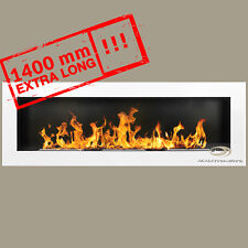 BIO ETHANOL FIREPLACE *Excellence* WHITE GLOSS XXL 140x40 Wide flame effect!!!
