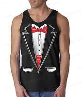TUXEDO funny Men's Tank Top humor wedding gift school prom suit costum tee
