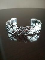 Ericks Sterling Silver Braided Cuff Bracelet Taxco.925