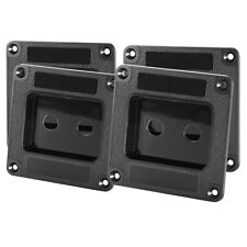 "Four Pack Penn-Elcom M1500 Speaker Cabinet Double 1/4"" Jack Plate Black ABS"