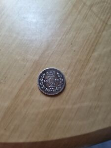 METAL DETECTING FIND 1838 QUEEN VICTORIA SILVER MAUNDY TWO PENCE