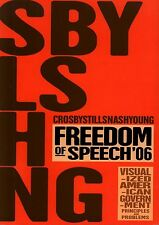 CROSBY, STILLS, NASH & YOUNG 2006 FREEDOM OF SPEECH TOUR  PROGRAM BOOK / NM 2 MT