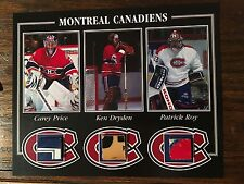 KEN DRYDEN PATRICK ROY CAREY PRICE MONTREAL CANADIENS GAME USED STICK 8 X 10 COA