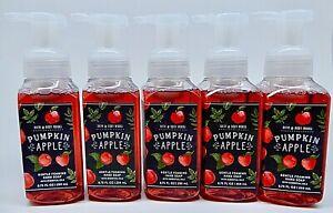 5 BATH & BODY WORKS PUMPKIN APPLE GENTLE FOAMING HAND SOAP 8.75 oz NEW