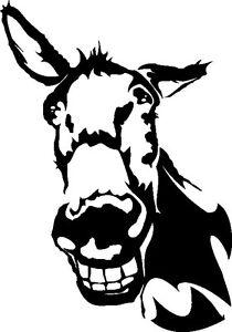 Wandtattoo, Wandaufkleber, Esel, lachender Esel, Esel lustig