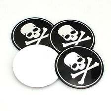 4x 56mm Auto Car SUV Wheel Emblem Hub Center Caps Cross Bone Skull Logo Sticke