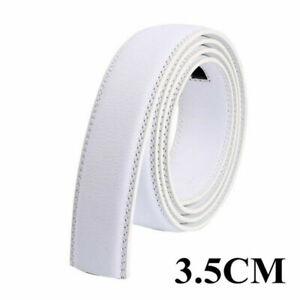 3.5cm Luxury Men's Automatic Buckle Belt Strap Leather Ratchet Strap Jeans Gift