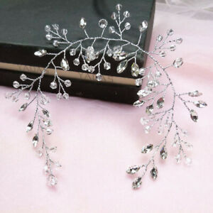 Women Bridal Hair Clip Head Band Rhinestone Hairband Crystal Wedding Hair Bands