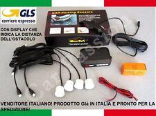 KIT 4 SENSORI DI PARCHEGGIO BIANCHI DISPLAY PEUGEOT BIPPER EXPERT PARTNER BOXE