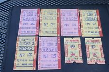 8 OLD HORSE RACING BETTING TICKETS 1960 AQUEDUCT RACE TRACK