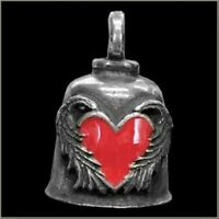 Pewter Motorcycle Gremlin Bell Lone Star Texas State Flag Made in the USA