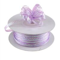 "3mm 1/8"" Organza Pull bow ribbon Lavender iridescent 50 yd"
